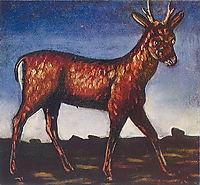 Deer, pirosmani