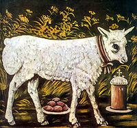 Easter lamb, pirosmani