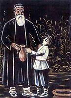 The farmer and his grandson, 1908, pirosmani