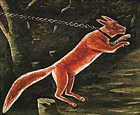 Fox on chain, pirosmani