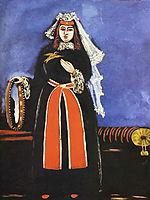 A Georgian Woman with Tamboreen, 1906, pirosmani