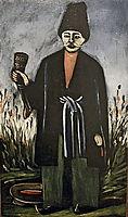 Karachoheli with a horn of wine, pirosmani