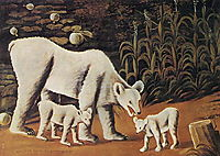 Mother Bear with Her Cubs, 1917, pirosmani