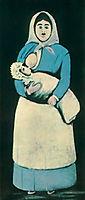 Nurse with baby, pirosmani