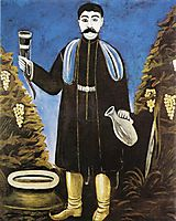 Prince with a Horn of Wine, pirosmani