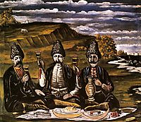 Razzle-dazzle of three princes, 1909, pirosmani