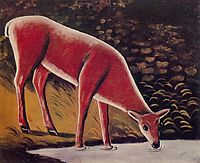 Roe Deer by a Creek, pirosmani