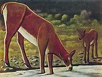 Roe deer at a spring, pirosmani