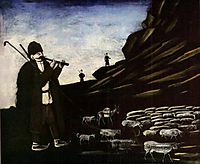 Shepherd with Flock, pirosmani