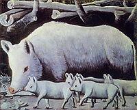 Sow with Piglets, pirosmani