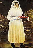 Woman with Easter Eggs, pirosmani