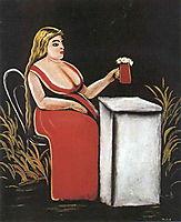 Woman with a Mug of Beer, c.1905, pirosmani