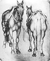 Horses, 1433, pisanello