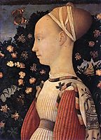 Portrait of a Princess of the House of Este, c.1449, pisanello