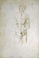 Study of a Young Man with his Hands tied behind his back, 1438, pisanello
