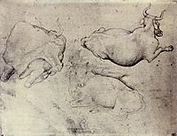 Three Cows, 1440, pisanello