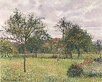 Afternoon in Eragny grey weather, 1900, pissarro