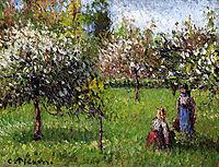 Apple Blossoms, Eragny, c.1900, pissarro