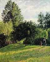 Apple Trees, Sunset, Eragny, 1896, pissarro