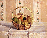 Apples and Pears in a Round Basket, 1872, pissarro