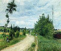 The Auvers Road, Pontoise, 1879, pissarro
