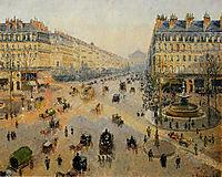 The Avenue de L-Opera, Paris, Sunlight, Winter Morning, pissarro