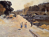 The Banks of the Seine in Paris, Pont Marie, Quai d-Anjou, c.1875, pissarro