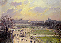 The Bassin des Tuileries, Afternoon, 1900, pissarro