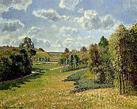 Berneval Meadows, Morning, 1900, pissarro