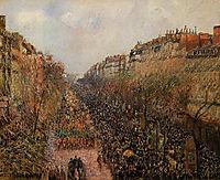 Boulevard Montmartre Mardi Gras, 1897, pissarro