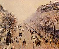 Boulevard Montmartre Morning, Sunlight and Mist, 1897, pissarro