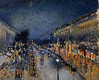 The Boulevard Montmartre at Night, 1897, pissarro