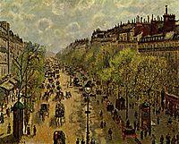 Boulevard Montmartre, Spring, 1897, pissarro