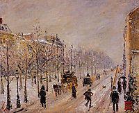 The Boulevards under Snow, 1879, pissarro