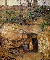 The Carrier at Hermitage, Pontoise, 1878, pissarro