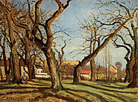 Chestnut Trees at Louveciennes, 1872, pissarro
