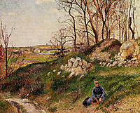 The Chou Quarries, Pontoise, 1882, pissarro