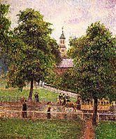 Church at Kew, 1892, pissarro