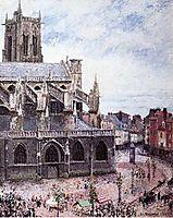 The Church of Saint Jacues, Dieppe, Rainy Weather, 1901, pissarro