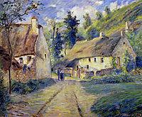 Cottages at Auvers, near Pontoise, 1879, pissarro