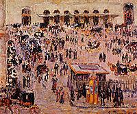 Cour du Havre (Gare St. Lazare), 1893, pissarro