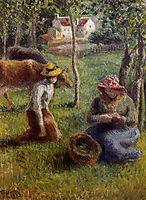 Cowherd, 1883, pissarro