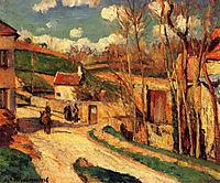 Crossroads at l-Hermitage, Pontoise, 1876, pissarro