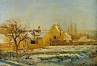The Effect of Snow at Hermitage, 1874, pissarro