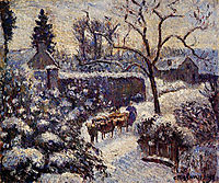 The Effect of Snow at Montfoucault, 1891, pissarro