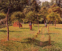Enclosed Field at Eragny, 1896, pissarro