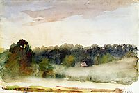Eragny Landscape, 1890, pissarro