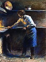 Eugene Murer at His Pastry Oven, 1877, pissarro