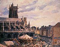 The Fair by the Church of Saint Jacques, Dieppe, 1901, pissarro