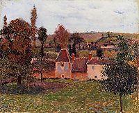 Farm at Basincourt, c.1884, pissarro